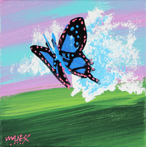 Butterfly on a Cloud - 10x10 - ?