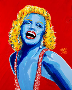 Blue Bombshell - 24x30 - SOLD