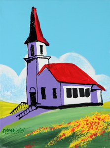 Church on the HIll - 9x12 - ?