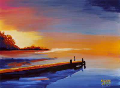 Dock of the Bay - 24x30 - SOLD