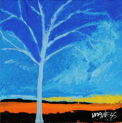 Lite Blue Tree - 12x12 - ?