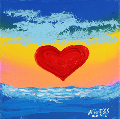 Heart on the Water - 10x10 - ?