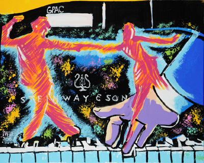 Jazz Piano - 24x30 - SOLD