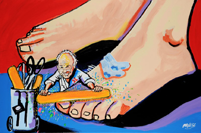 Foot Doc to the World - 24x36 - SOLD