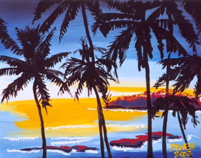 Sunset in Paradise - 16x20 - SOLD