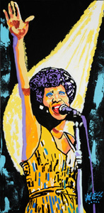 Young Aretha - 18x36 - ?