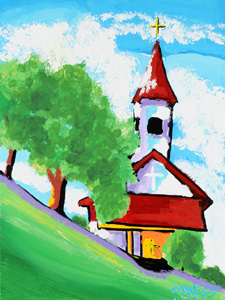 Church in the Trees - 18x24 - ?