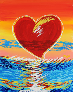 Transparent Heart - 24x30 - ?