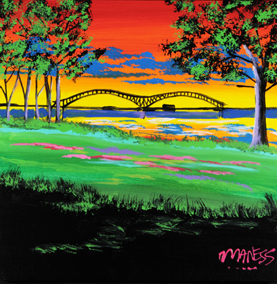 M Bridge Summer - 24x24 - ?