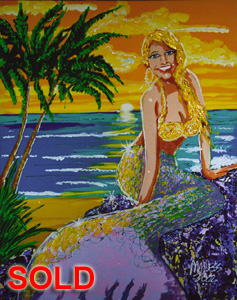 Mermaid - 24x30 - SOLD