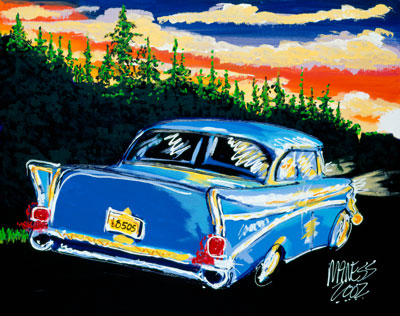 Classic At Sunset - 22x28 - SOLD
