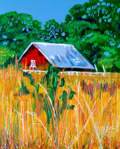 Red Barn - 24x30 - SOLD