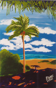 Cayman Palm - 24x36 - SOLD