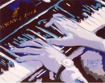 Blues on Black Keys - 22x28 - SOLD