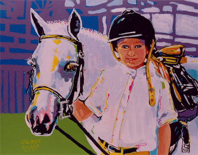 Girl & Horse - 24x30 - SOLD
