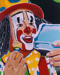 The Clown - 20x24 - SOLD