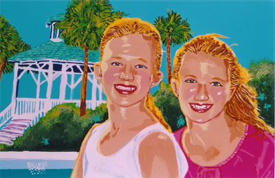 2 Girls in Destin - 24x36 - SOLD