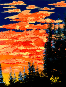 Sunset Fire - 18x24 - SOLD