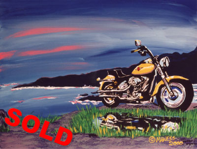 Harley by the Bay - 24x30 - SOLD