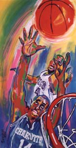 Rebound for Glory - 24x46 - SOLD