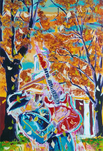 Fall on the Square<br>Hernando, MS - 24x36 - SOLD
