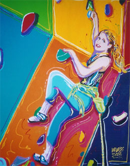 Wall Climber - 24x30 - SOLD
