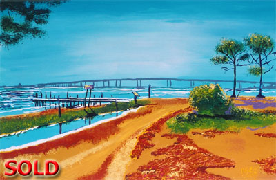 Orange Beach Bridge - 24x36 - SOLD
