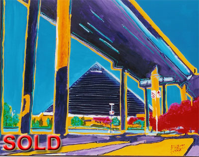 Pyramid Overpass - 24x30 - SOLD