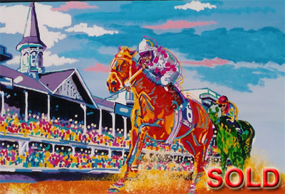 Green Envy<br>Funny Side Wins the Derby - 24x36 - SOLD