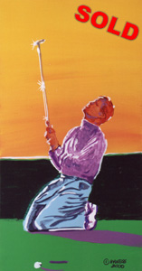 Golfer's Prayer - 12x24 - SOLD