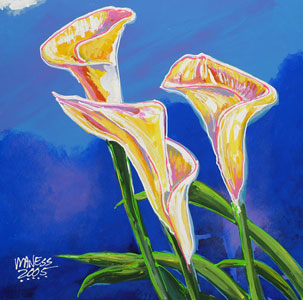 Lillies - 24x24 - SOLD
