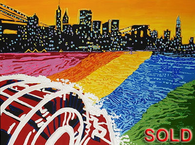 New York on MS - 30x40 - SOLD