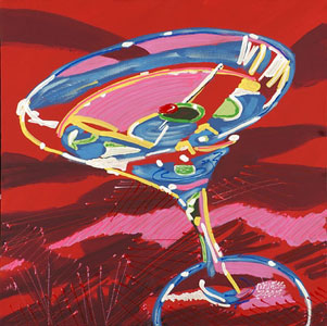 Red Martini - 24x24 - SOLD