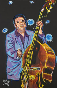 Mookie Brill and his Bass - 30x40 - E-Mail Mike