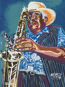 Gary Bush Sweet Blues - 18x24 - SOLD