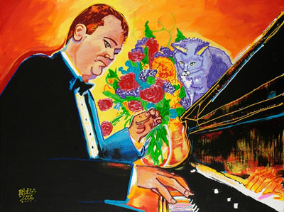 Piano Man and Maria - 30x40 - SOLD