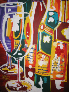 Two Glasses - 30x40 - SOLD