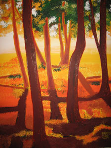 Mystic Grove (R) - 36x48 x2 - SOLD