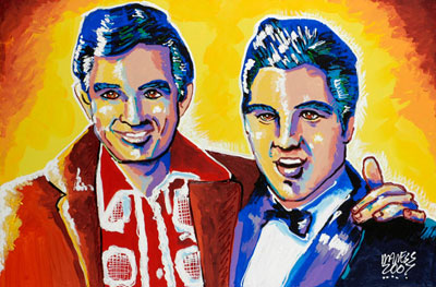 Young Icons<br>Elvis & Johnny Cash - 24x36 - SOLD