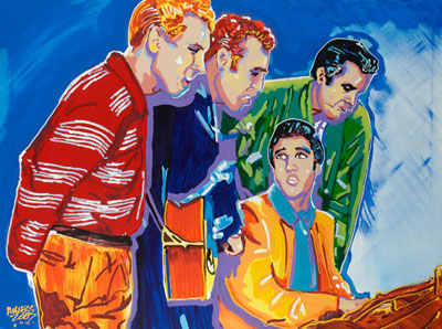 Million Dollar Quartet<br>(Jerry Lee Lewis, Carl Perkins, Johnny Cash, Elvis) - 36x48 - SOLD