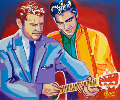 Try This<br>Elvis & Sam Phillips - 30x36 - SOLD