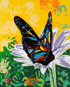 Stain Glass Butterfly - 24x30 - E-Mail Mike