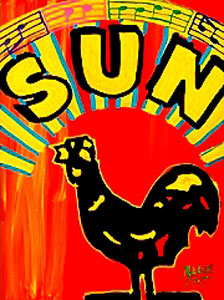 Memphis Music Labels - SUN - 18x24 - SOLD
