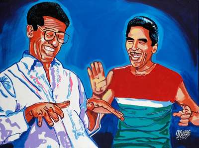 TOO COOL<br>Al Green & Willie Mitchell - 30x40 - SOLD