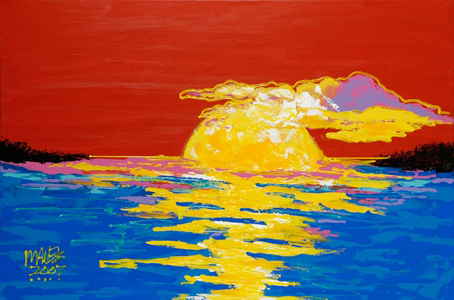 Fire in the Sea - 24x36 - E-Mail Mike