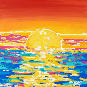 Cayman Sunset - 18x18 - ?
