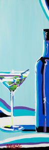 Blue Martini - 12x36 - SOLD