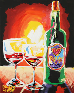 Red Wine for the Heart - 16x20 - SOLD