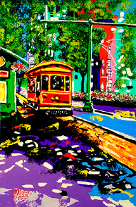 Main Street Trolley - 40x26.5 - ?