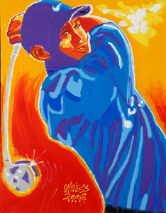 Tiger, Tiger Burning Bright - 18x28 - SOLD